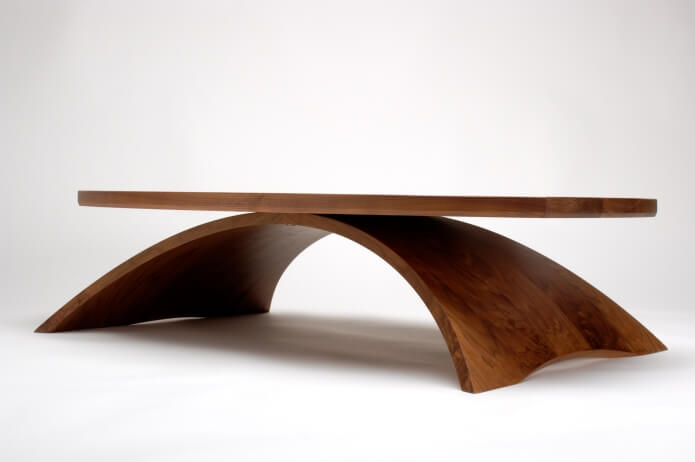 Kurve signature piece: arched coffee table